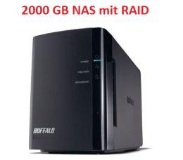 [NOTEBOOKSBILLIGER] Ab 10:00 Uhr: Buffalo LinkStation Duo 2-Bay NAS System mit 2000GB Speicher für 179,- Euro inkl. Versandkosten!