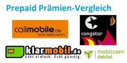 [EBAY] Übersicht der verschiedenen Prepaid-Prämienangebote – Klarmobil, Congstar, Callmobile & Mobilcom!
