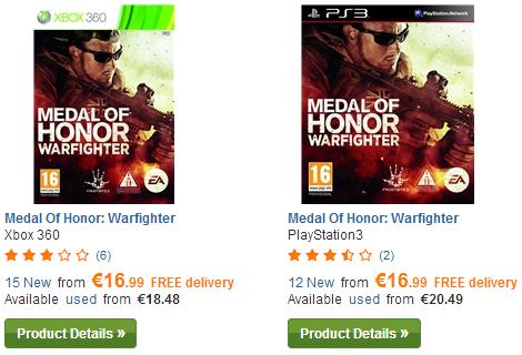 [PLAY.COM] Medal Of Honor: Warfighter für PS3 oder Xbox für je nur 16,99 Euro inkl. Versand