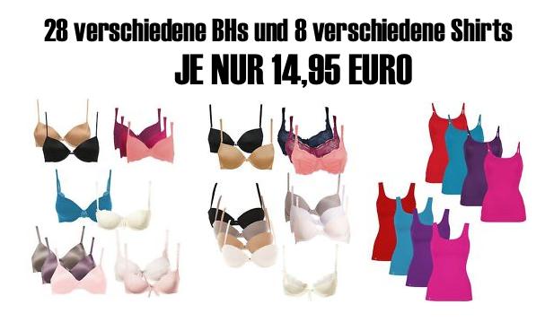 [EBAY WOW! #4] 28 verschiedene Triumph und Sloggy Bügel BHs und 8 verschiedene Triumph Damen Shirts für je nur 14,95 Euro!