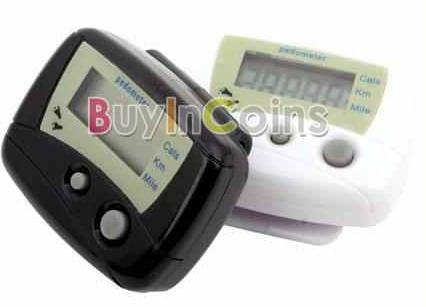 [GADGETWELT.DE] Elektronischer Schrittzähler mit LCD Display & Clip in schwarz oder weiß nur 0,77 Euro!