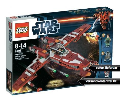 [SMDV.DE] Lego Star Wars Republic Striker-class Starfighter (9497) für nur 30,98 Euro inkl. Versandkosten!