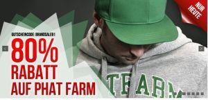 [HOODBOYZ] Nur heute: 80% Rabatt auf Bekleidung der Marke Phat Farm.