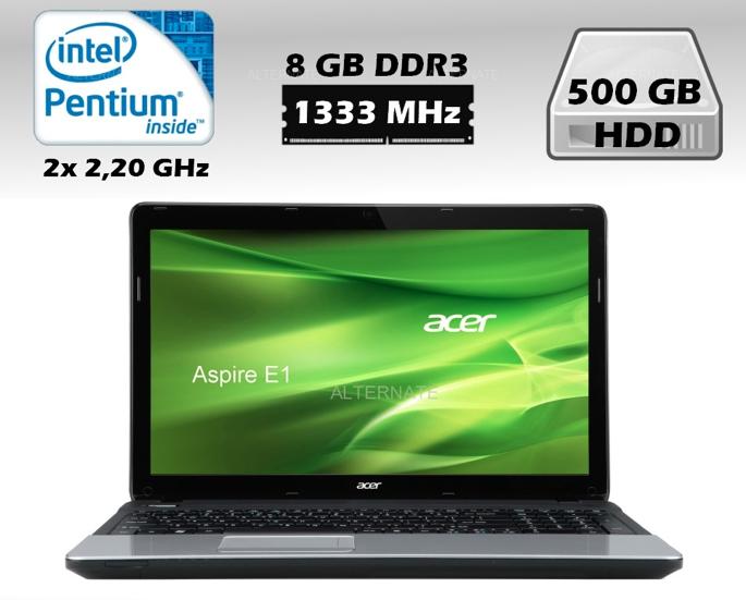 [EBAY WOW! #3] Notebook 15,6 Zoll Acer Aspire E1-531-B968G50Mnks mit 2x 2,2GHz, 8GB Ram und 500GB HDD für nur 279,- Euro inkl. Versand!