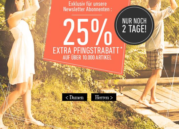[DRESS-FOR-LESS] Nur 2 Tage! 25% Extrarabatt für Newsletterabonnenten + 10,- Euro Newslettergutschein