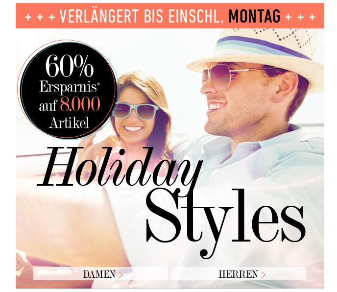 [DRESS-FOR-LESS] Bis Montag! 60% Rabatt auf Holiday Styles (über 8000 Artikel) + 10,- Euro Newslettergutschein