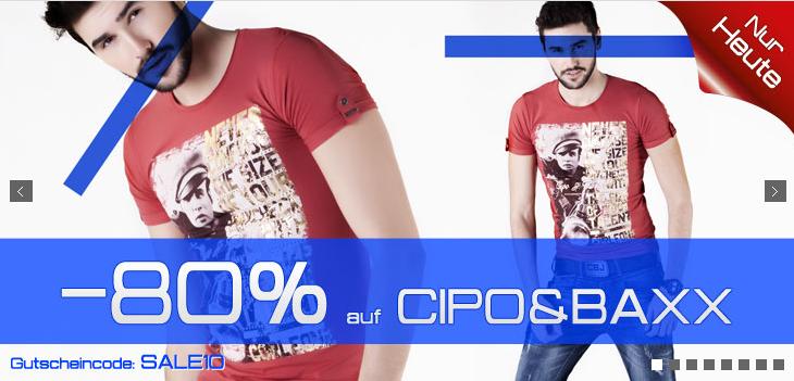 [HOODBOYZ] 80% Rabatt! Satte 80% Rabatt auf Kleidung von Cipo&Baxx und AR-MAR – der Rabatt wird direkt im Warenkorb abgezogen