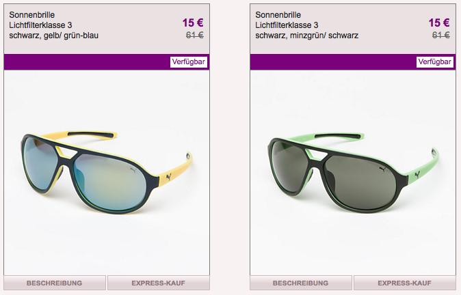 [VENTE PRIVEE] Nur heute! Sale Aktion für Puma Sonnenbrillen – verschiedene Modelle für je nur 15,- Euro!