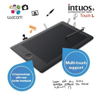 [iBOOD.DE] Wacom Intuos 5 Touch L professionelles Grafiktablet für Stift-und Multi-Touch-Eingabe für 305,90 Euro inkl. Versand