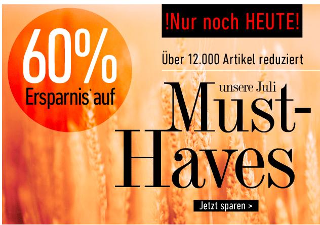 [DRESS-FOR-LESS] Nur noch heute! 60% auf viele Artikel aus dem Sortiment + 10,- Euro Newslettergutschein