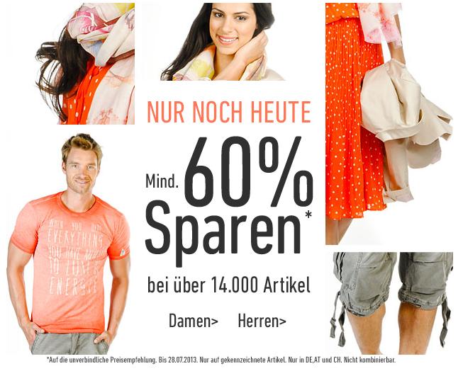 [DRESS-FOR-LESS] Nur noch heute! 60% auf über 14.000 Artikel aus dem Sortiment + 10,- Euro Newslettergutschein