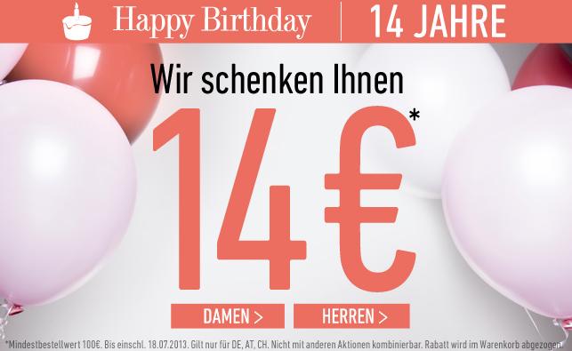 [DRESS-FOR-LESS] Happy Birthday Dress-for-Less! Nur noch heute 14,- Euro Rabatt auf Alles mit MBW 100,- Euro + 10,- Euro Newslettergutschein