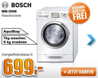 [SATURN SUPER SUNDAY] Bosch Waschtrockner WVH28440 für nur 699,- Euro inkl. kostenlosem Versand!