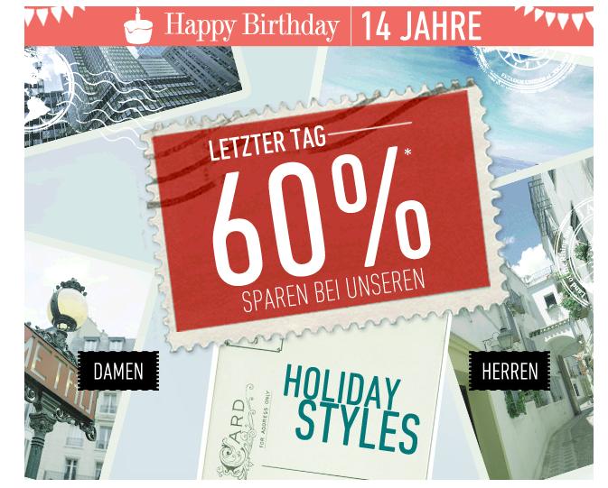 [DRESS-FOR-LESS] Nur noch heute 60% auf Holiday Styles für Männer und Frauen + 10,- Euro Newslettergutschein