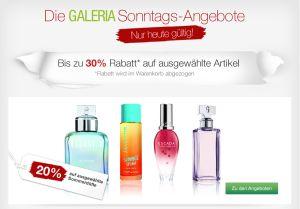 [GALERIA-KAUFHOF.DE] Verschiedene Rabattaktionen bei den Galeria Kaufhof Sonntagsangeboten!