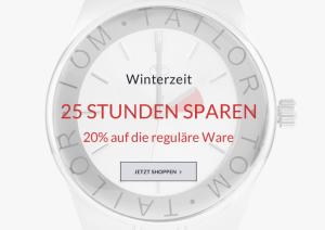 [TOMTAILOR.COM] Nur heute! 20% Rabatt auf nicht reduzierte Artikel + 50% Rabatt im Midseason Sale + 10% Newslettergutschein!