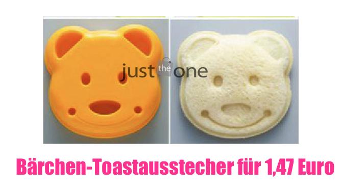 [GADGETWELT.DE] Eltern anwesend? Damit das Schulbrot nicht mehr mit nach Hause kommt – Bärchen-Toastausstecher für 1,47 Euro inkl. Versandkosten!