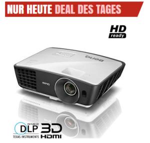[NOTEBOOKSBILLIGER.DE] Ab 10:00 Uhr!  BenQ W750 DLP Beamer mit 1280 x 720 Pixel, 3D-Fähig für nur 419,90 Euro!