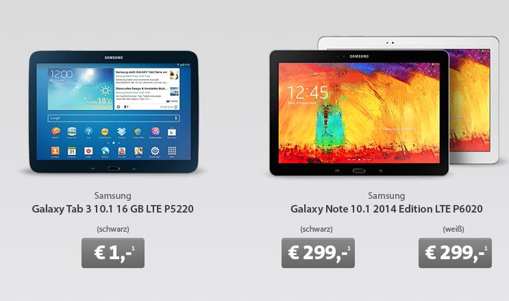 [SPARHANDY] Letzte Chance! Galaxy Tab 3 10.1 16Gb 3G mit 5GB Internet Flat nur 11,91 Euro pro Monat (inkl. Internetflat 42,- Euro unter Preisvergleich)