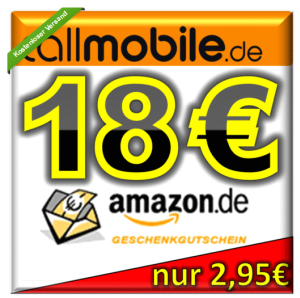 [EBAY] Wieder verfügbar! 18,- Euro Amazon Gutschein für nur 2,95 Euro abstauben!