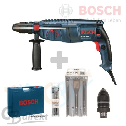 wow bosch gbh2600 bohrhammer 3 bohrer 3 mei el koffer futter wie gbh 2 26 dfr f r nur 149. Black Bedroom Furniture Sets. Home Design Ideas