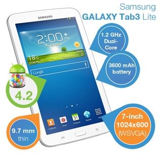 [iBOOD.DE] Galaxy Tab3 Lite (SM-T110) 7″ Tablet mit Android 4.2 für nur 105,90 Euro inkl. Versand!