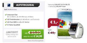 [SPARHANDY.DE] Knaller! MoWoTel Easy Tarif ohne Anschlussgebühr und Samsung Galaxy S4 + Galaxy Gear für nur 14,95 Euro monatlich!