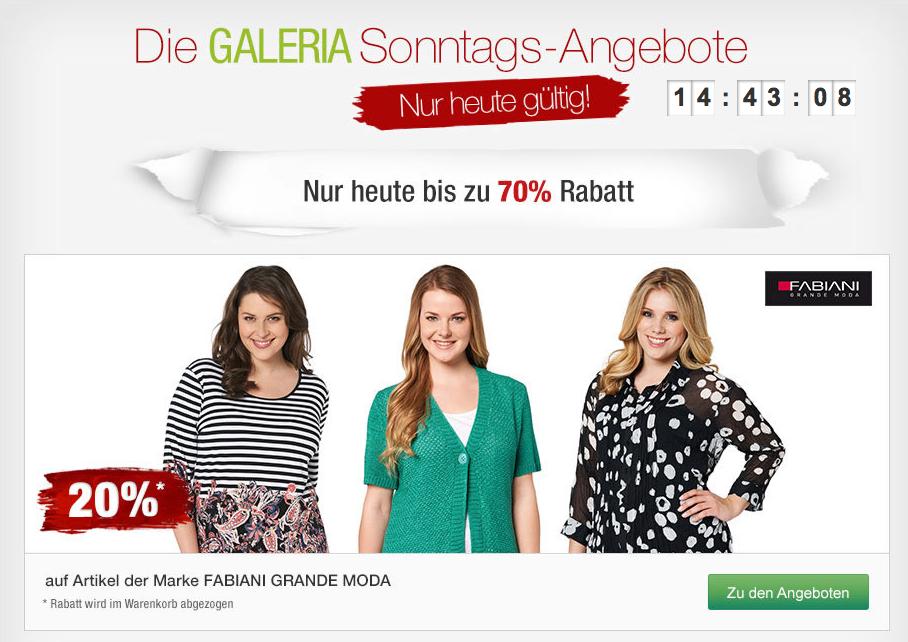 [GALERIA KAUFHOF] Galeria Sonntags Angebote! z.B.  Zwilling Topfset für nur 134,10 Euro!