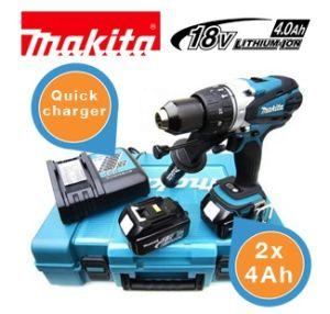 [iBOOD] Makita Akkuschrauber DHP458RME mit zwei 4-Ah-Batterien im Koffer für nur 308,90 Euro inkl. Versand!