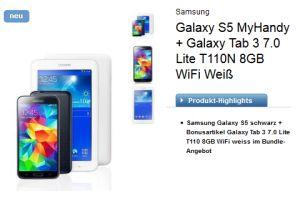 Nochmal Logitel! o2 Blue All-in M junge Leute MyHandy mit Samsung Galaxy S5 und Samsung Galaxy Tab 3 Lite T110N WiFi für effektiv 4,88 Euro monatlich!