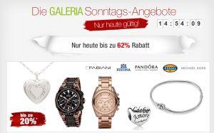 [GALERIA KAUFHOF] Galeria Sonntags Angebote! z.B. 20% Rabatt auf Uhren und Schmuck!