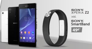 Sony Xperia Z2 inkl. Sony SmartBand mit o2 Blue All-in S Aktionstarif für 19,99 Euro monatlich + einmalig 49,- Euro!