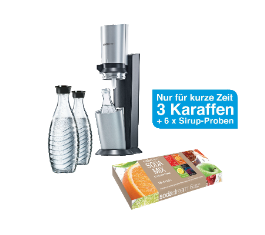 sodastream crystal megapack f r nur 79 90 euro inkl versand. Black Bedroom Furniture Sets. Home Design Ideas