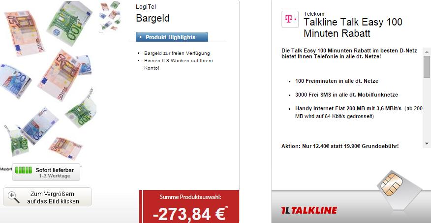 Bestpreis! Talkline Talk Easy im Telekom Netz mit mtl. 100 Minuten + 3000 SMS + Internet-Flat nur 0,99 Euro (oder mit S4 Mini und Galaxy Tab 12,40 Euro)