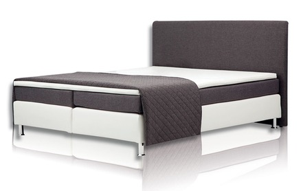 boxspringbett topper bezug boxspringbett ascan 140x200cm bezug schwarz singlebett. Black Bedroom Furniture Sets. Home Design Ideas