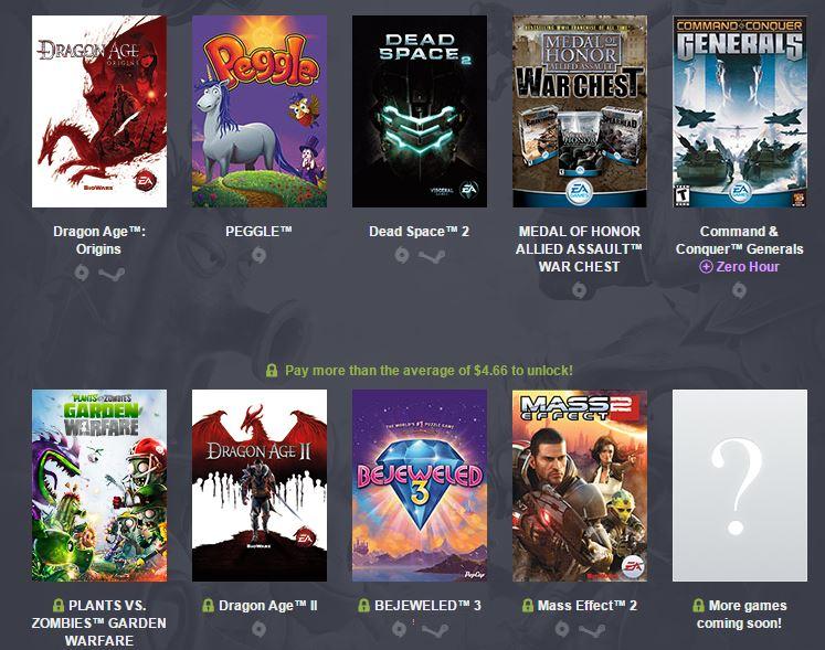 Humble Origin Bundle: u.A. mit Dragon Age 2 und Plants vs. Zombies Garden Warfare