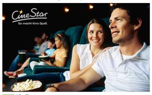 4 CineStar Kinogutscheine für alle Platzkategorien plus Popcorn für 31,60 Euro bei Groupon!
