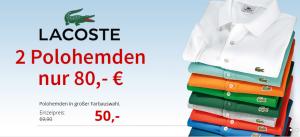 Doppelpack Lacoste Poloshirts für nur 75,95 Euro inkl. Versandkosten bei Hirmer!