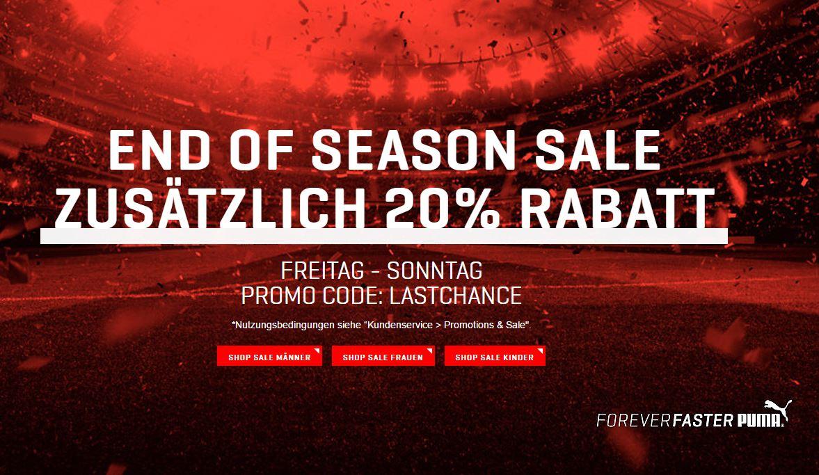Knaller! Großer Sale im Puma Onlineshop mit bis zu 50% Rabatt + 20% Gutschein auf bereits reduzierte Artikel!