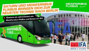 3,- Euro Meinfernbus Flixbus Gutschein gratis abgreifen bei Saturn!