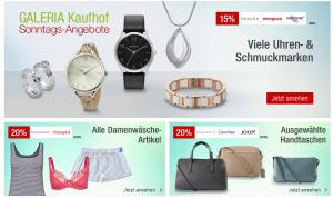 Die Galeria Kaufhof Sonntags-Angebote am 23. August – wie immer kombinierbar mit dem 10% Newsletter Gutschein!