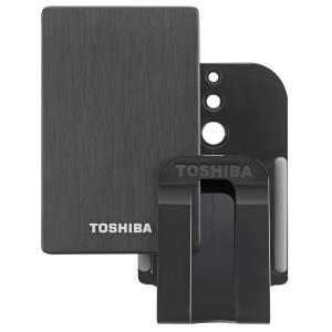 Externe Festplatte TOSHIBA Stor.E Alu mit 1TB Speicher, USB 3.0 und TV Montage-KIT für nur 55,- Euro inkl. Versand!