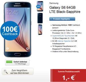 Super! BASE all-in Tarif mit Allnet-Flat, SMS-Flat und 2GB Datenflat mit Galaxy S6 64GB ab 31,- Euro monatlich und 100,- Euro Cashback!