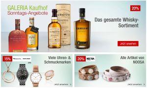 Die Galeria Kaufhof Sonntags-Angebote am 20. September – wie immer kombinierbar mit dem 10% Newsletter Gutschein!