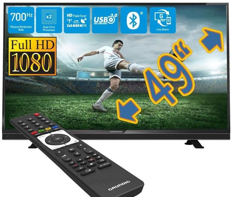 grundig 49 zoll 700hz full hd led smart tv fernseher mit triple tuner f r nur 379 99 euro inkl. Black Bedroom Furniture Sets. Home Design Ideas