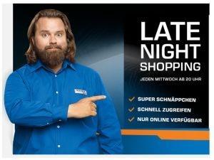 Saturn Late Night Shopping z.B. APPLE iPod shuffle 2 GB in verschiedenen Farben für 34,99 Euro