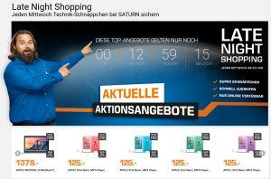 Kracher!! Die Saturn Late Night Shopping Angebote am Mittwoch – z.B. APPLE iPod Nano 7G mit 16 GB verschiedene Farben für je 120,- Euro!