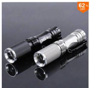 LED-Taschenlampe Meco CREE XPE-Q5 mit 600 Lumen,  7W und Zoom für nur 2,02 Euro bei Banggood!