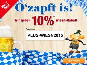 10% Gutschein auf fast Alles bei Plus.de – z.B. Einhell Kettensäge für 98,96 Euro
