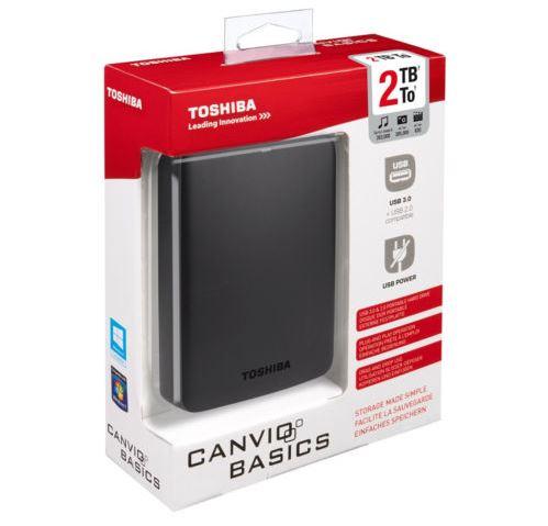 Super! TOSHIBA Canvio Basics 2.5 2TB für nur 69,- Euro bei Media Markt!